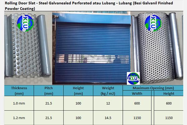 Rolling Door Otomatis Perforated